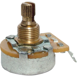 Potentiometer - Fender, No Load, 250K Split Shaft