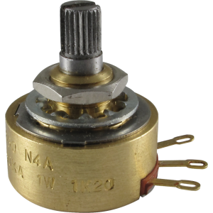 Potentiometer - Alessandro, 500K Audio, 1W, Knurled Shaft