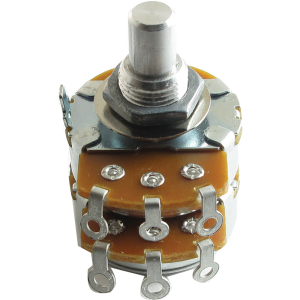 "Potentiometer - Alpha, Audio, Dual, 3/8"" Bushing"
