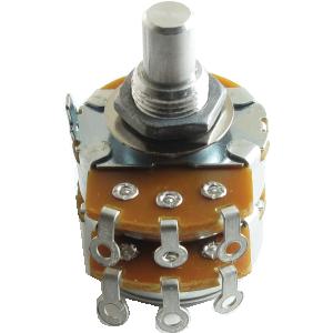 "Potentiometer - Alpha, 250K Audio, Dual, 3/8"" Bushing"