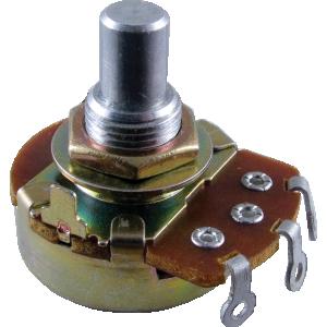 "Potentiometer - Alpha, 500K, Reverse Audio, 3/8"" Bushing"