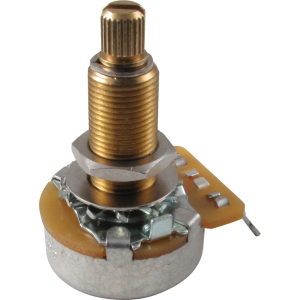 Potentiometer, guitar, long shaft, Original Gibson® 500K