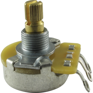 "Potentiometer - Fender®, 50K, Audio, Split Shaft, 1/4"" Bushing"