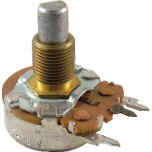 """Potentiometer - 5K Audio, 24mm, 7/16"""" Bushing, PC Mount"""