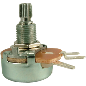 Potentiometer - 100Ω, Linear, Knurled Shaft, 5W, Wirewound, 24mm
