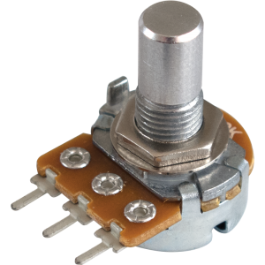 Potentiometer - Alpha, Linear, Solid Shaft, PC Lead, 16mm
