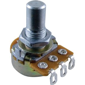 Potentiometer - Linear, 16mm, 1/4 in. Solid Shaft, Set Screw