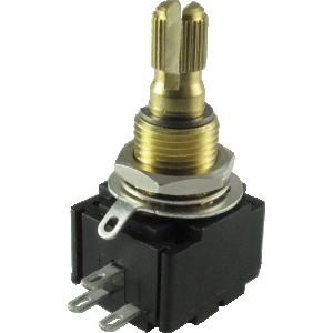 Potentiometer - Bourns, 300K Linear Taper, Knurled Split Shaft, Premium