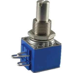 Potentiometer - Audio, Bourns, conductive polymer, slotted shaft, 250k/500k