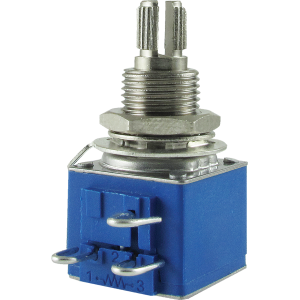 "Potentiometer - Bourns, Audio, Knurled Shaft, 3/8"" Bushing"