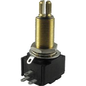 Potentiometer - Linear, Bourns, conductive polymer, knurled split shaft, 300k/500k