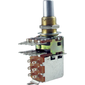 Potentiometer - Bourns, Audio, Solid Shaft, Dual Mini, Push-Pull