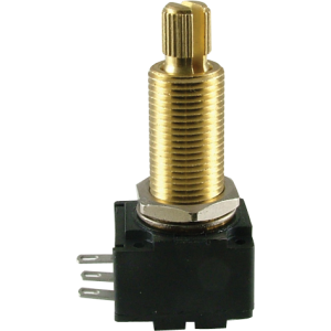 "Potentiometer - Bourns, Audio, Knurled Shaft, 3/4"" Bushing"