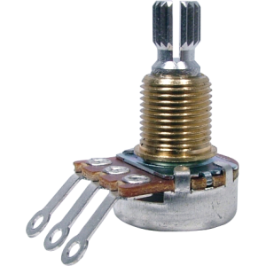 Potentiometer - Audio, Bourns, Mini Guitar Potentiometers (PDB181-GTR), Knurled Split Shaft