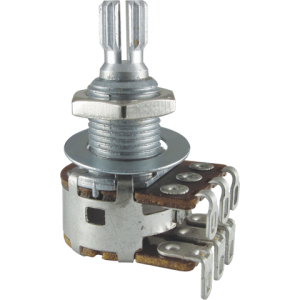 Potentiometer - Bourns, Dual MN Taper, Knurled Shaft