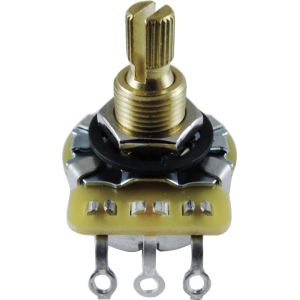 Potentiometer, CTS - Metal Knurled Shaft, Linear, 3/8 in Bushing, 250k/500k