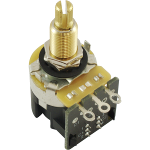 "Potentiometer - CTS, 500K, Audio, Knurled Shaft, .75"" Bushing, DPDT"