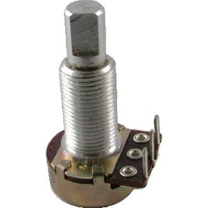 "Potentiometer - 1M Audio, 16mm, 5/8"" Bushing, FWD PC, D Shaft"