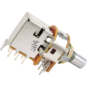 Potentiometer - Alpha, 1M Audio with DPDT Switch, 7mm Bushing