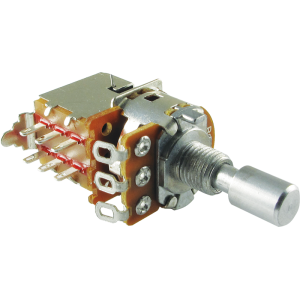 Potentiometer - Alpha, Linear, Solid Shaft, DPDT Switch, 7mm Bushing