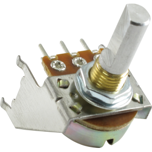 Potentiometer - Fender®, 100K, 30C Taper, D Shaft, Snap-In