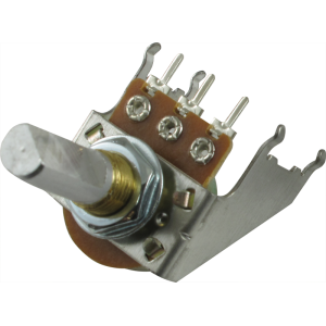 Potentiometer - Audio, D Shaft, 16mm, Snap-In, w/ Bracket