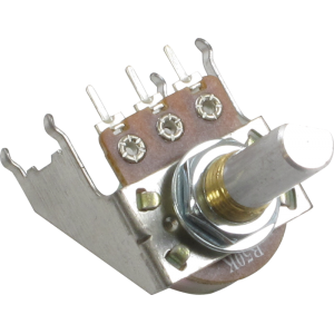 Potentiometer - Linear, D Shaft, 16mm, Snap-In, w/ Bracket