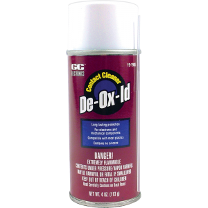 Contact Cleaner - GC Electronics, De-Ox-Id, light oil based
