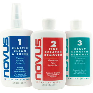 Plastic polish - Novus, set of each #1, #2, and #3