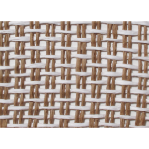 "Grill Cloth, Basket Weave, Natural White Weave, 42"" Wide"