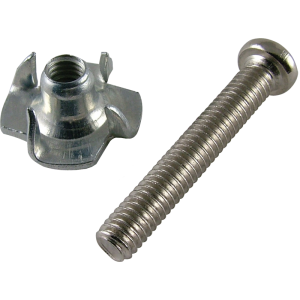 "Screw - 1"", Phillips, Pan Head, w/ Matching T-Nut"