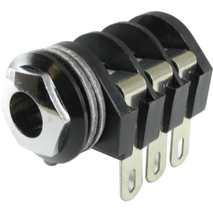 "Jack - Cliff, 1/4"", Stereo, Solder Lugs, Switched"