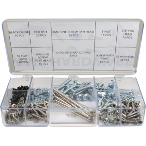 Kit - screws and nuts for amps, 316 pieces