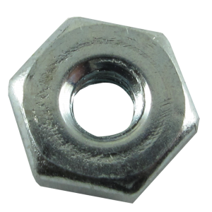 Nut - Hex, Zinc, 6/32 Diameter