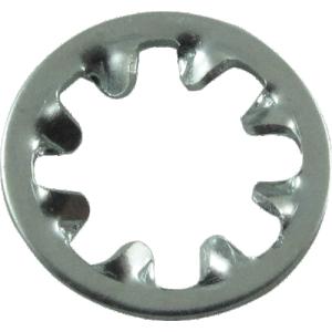 Washer - Internal Tooth Lock, #8, Zinc