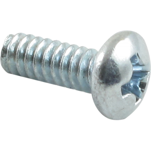 "Screw - Machine, Phillips Pan Head, 6/32 x 3/8"", Zinc"