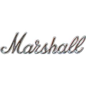 """Logo, Original Marshall 6"""" Gold Script"""