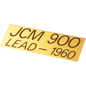 Plate - Marshall, JCM900 Lead 1960