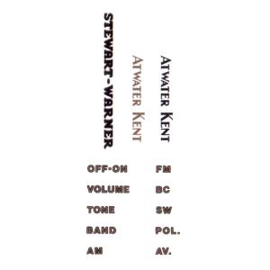 Decal - Atwater Kent / Stewart-Warner