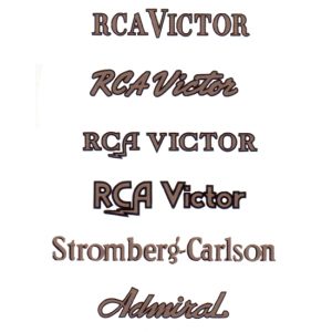 Decal - RCA / Stromberg / Admiral