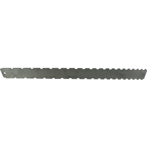 "Notched Straightedge, 16-1/2"" x 1-1/2"", Stainless Steel, Satin Finish"