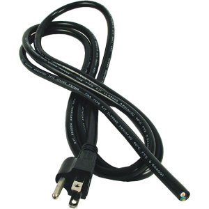 Cord - Power, 14/3, SJT, Molded Plug, Black, 6.5 ft