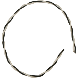 Wire - 18 AWG Hook-Up, Twisted Pair, Black and White, Solid