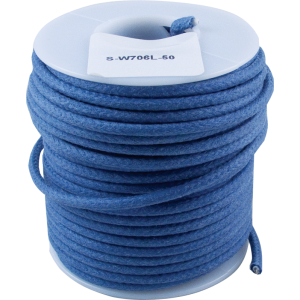 Wire - Hook-Up, Lacquered, 50' Spool, Blue