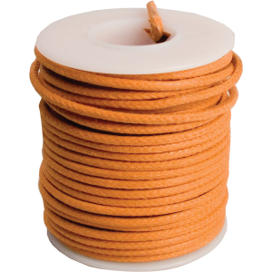 Wire - 20 AWG Solid Core, Lacquered Cloth Cover, Orange, 600V