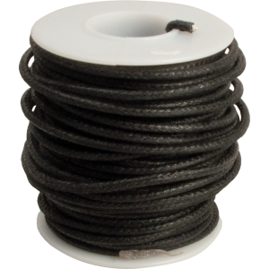 Wire - 20 AWG Solid Core, Lacquered Cloth Cover, Black, 600V
