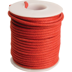 Wire - 20 AWG Solid Core, Lacquered Cloth Cover, Red, 600V