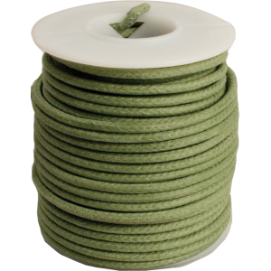 Wire - 20 AWG Solid Core, Lacquered Cloth Cover, Green, 600V