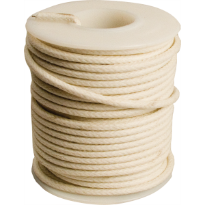Wire - 20 AWG Solid Core, Lacquered Cloth Cover, White, 600V
