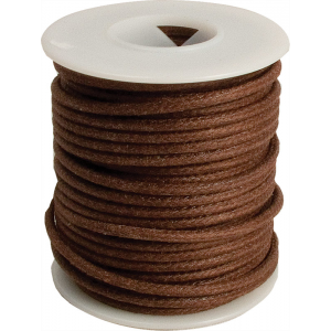 Wire - 20 AWG Solid Core, Lacquered Cloth Cover, Brown, 600V